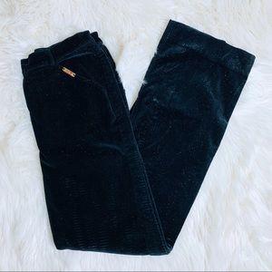 St. John Sport Black Sparkle Velvet Pants